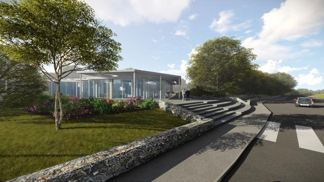 Artists impression of Conwy Cultural Centre set to open this autumn