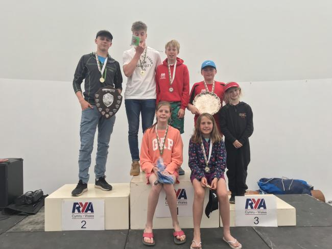 Rydal Penrhos' Sailing squad at the Welsh Youth Open