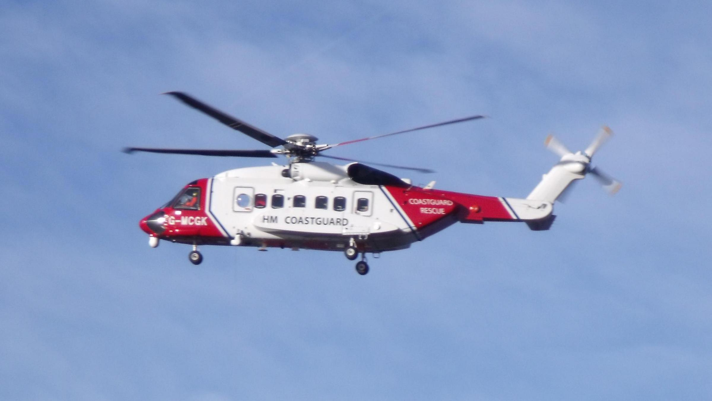 Coastguard helicopter rescues casualty from Great Orme