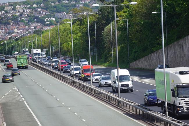 Traffic on the A55. Picture: Patrick Glover