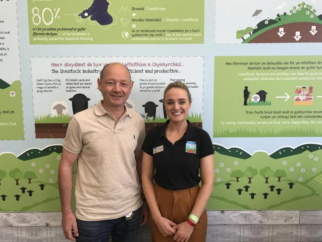 Bio-Planet's Christiaan Beerens with HCC's Kate Patten at the Royal Welsh Show