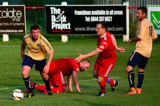 Kinmel Bay were beaten at Gaerwen (Photo by Steve Whitfield)