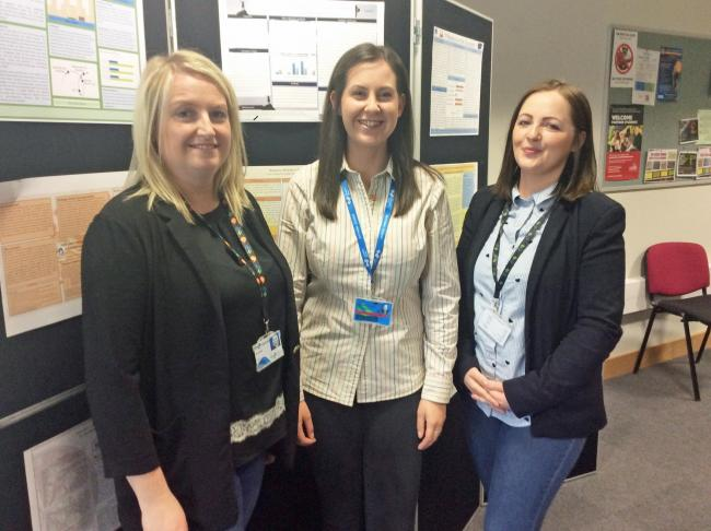Conference delegates Veda Richards, Sioned Roberts and Kelly Williams