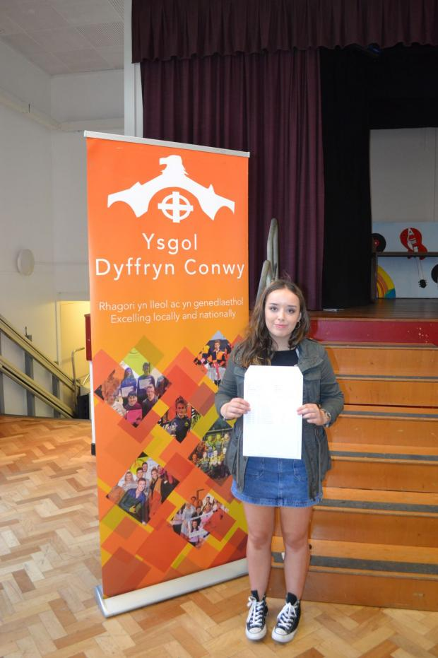 North Wales Pioneer: Rosy Pearson who plans to study Modern and Medieval Languages at Cambridge who gained A*A*AB