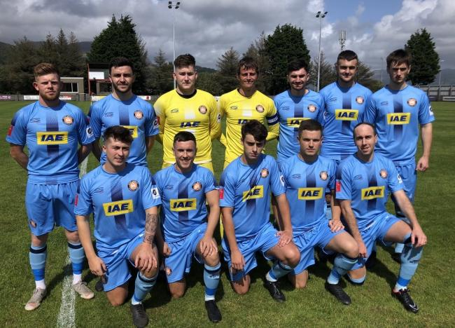 Conwy Borough line up before their impressive win at Porthmadog