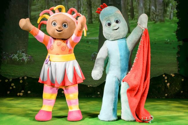 Join Upsy Daisy and Iggle Piggle in Llandudno. Picture: Johan Persson