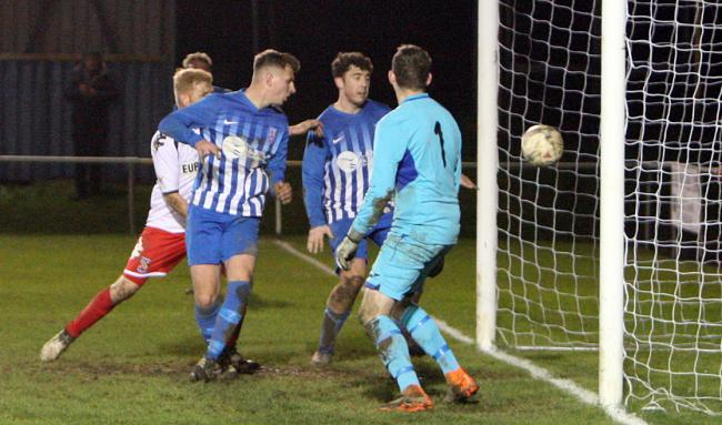 Holyhead Hotspur were beaten for the first time this season at Llandudno Albion
