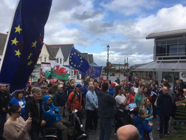 North Wales Pioneer: The demonstration in Colwyn Bay
