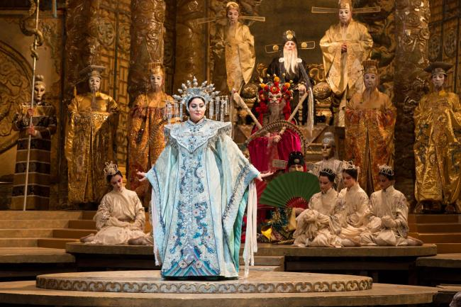 Christine Goerke in the title role of Puccini's Turandot. Picture: Marty Sohl/Metropolitan Opera