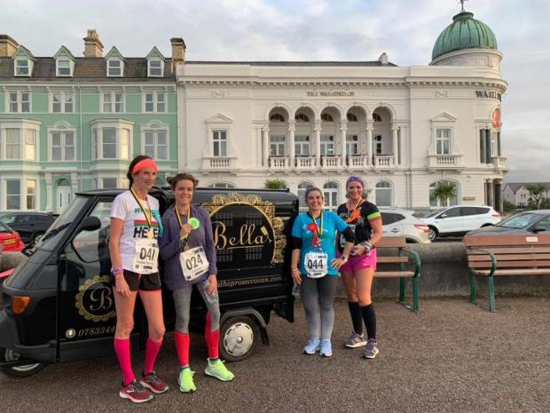 North Wales Pioneer: Ladies and the prosecco van on Friday's fizzy fun run