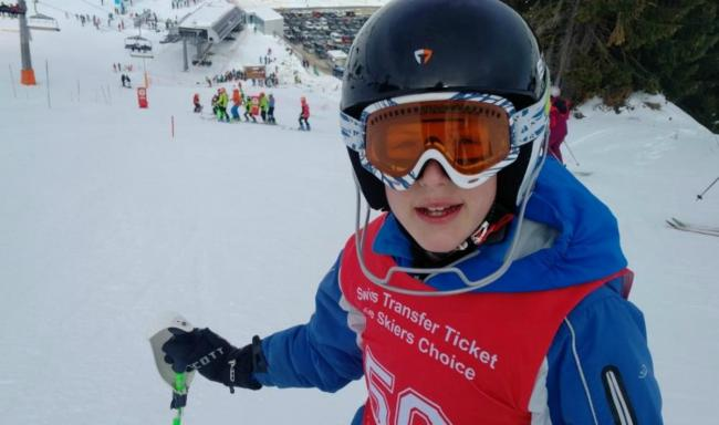 Rydal Penrhos School pupil and talented skier Chay Bonnington