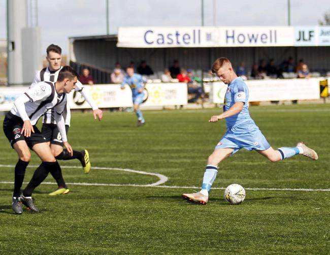 Corrig McGonigle scored a wonder goal for Conwy Borough against Buckley Town