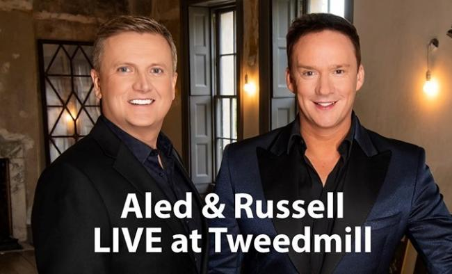 Aled Jones and Russell Watson will be making an appperance at Tweedmill this Saturday.