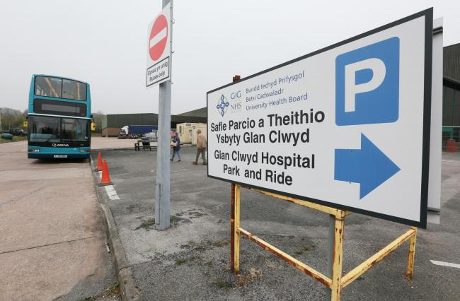 The Park and Ride service for Glan Clwyd Hospital was extended until October 31. Picture: GA160419A