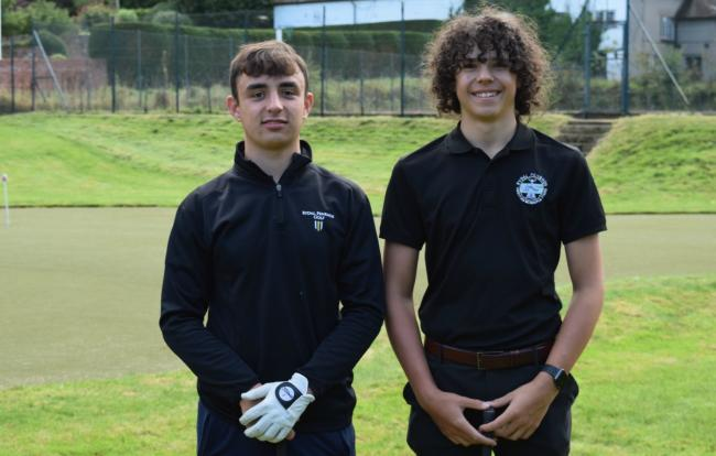 Rydal Penrhos Golf Academy members Reuben Bather and Charley Simpson