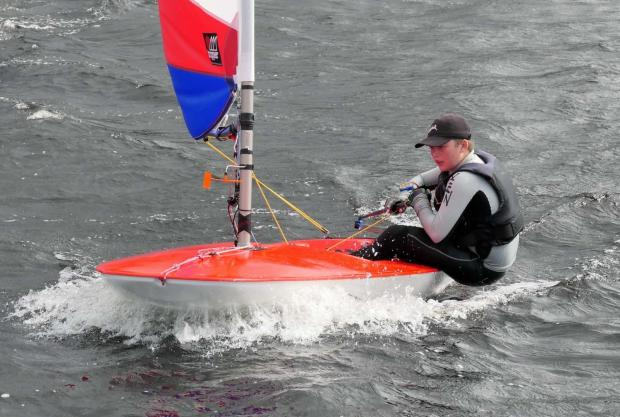 North Wales Pioneer: Llion Morris in his Topper dinghy