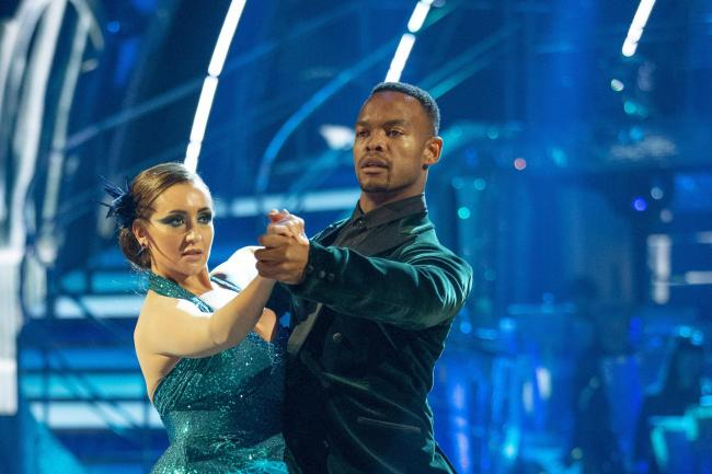 Johannes Radebe and Catherine Tyldesley on Strictly Come Dancing