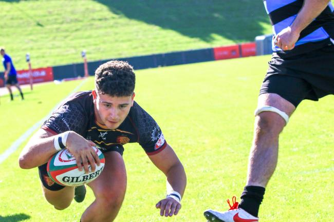 Rhys Tudor scored a hat-trick for RGC against Cardiff (Photo by Tony Bale)