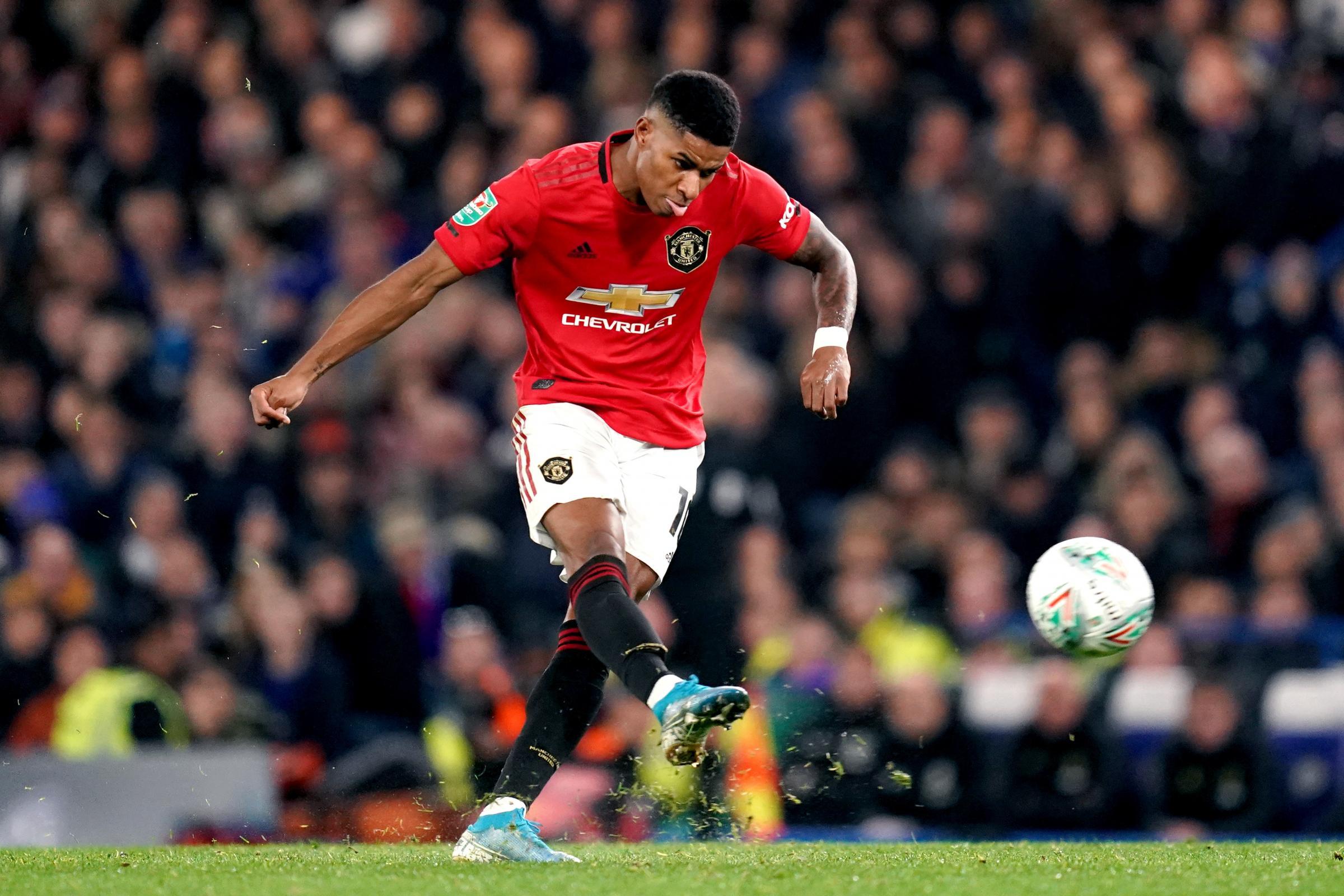 Superb Marcus Rashford Free Kick Sends Manchester United Through North Wales Pioneer