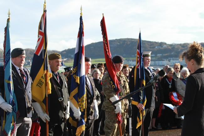 Llandudno remembrance service 2018. Picture: Kerry Roberts KR111118a