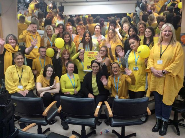 Hairdressing students from Coleg Llandrillo support World Mental Health Day
