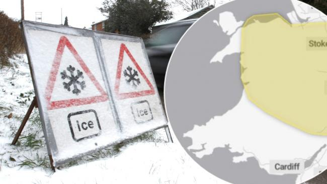 Met Office issues yellow warning of ice