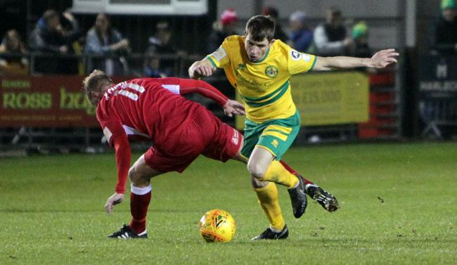 Caernarfon Town were held at home by Pen-y-Bont