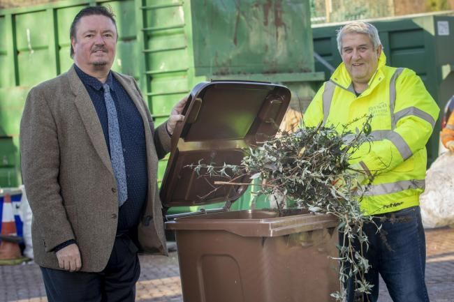Cllr Greg Robbins and Vincent Thomas of Bryson Recycling