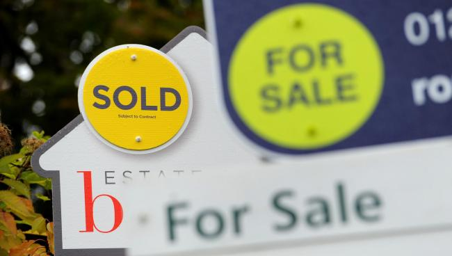 For Sale signs. Denbighshire house prices rise at highest rate across Wales