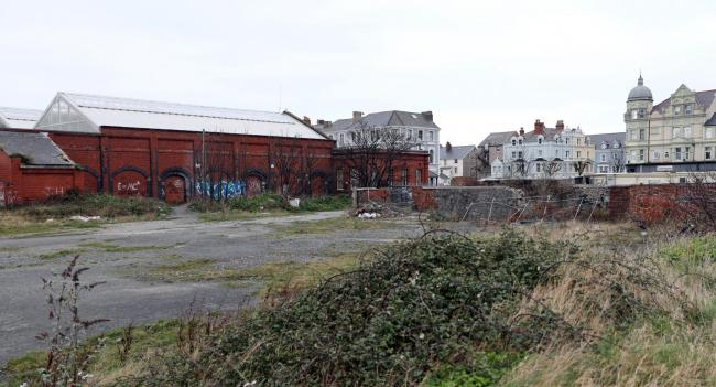 Land off Builder Street, Llandudno, which would be the site of the proposed 89-home development.