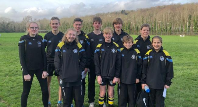 Rydal Penrhos School's cross-country squad at the Eryri Championships