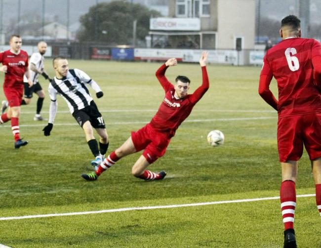 Jacob Farleigh scored for Llandudno late on