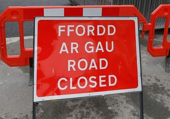The B5106 road has been closed this morning