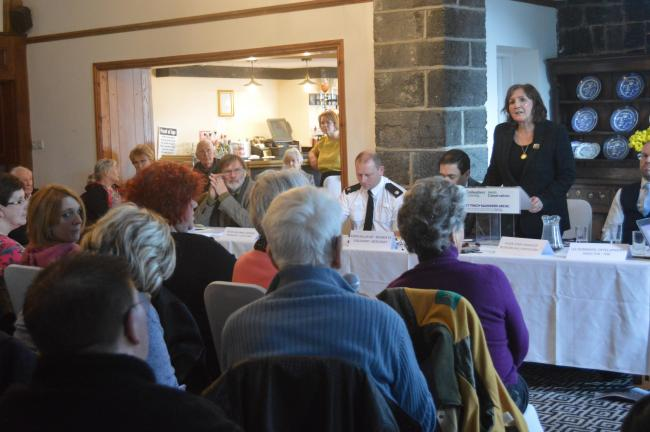 The meeting in Llanrwst