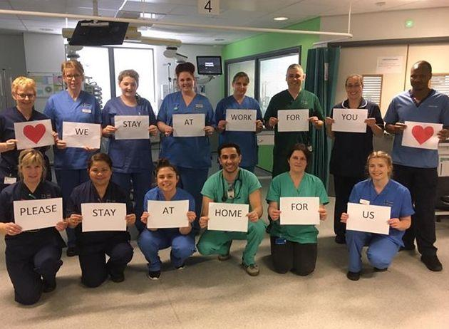 Nurses from the Intensive Care Unit at Glan Clwyd Hospital