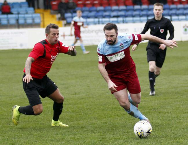 Sion  Edwards in action for Colwyn Bay