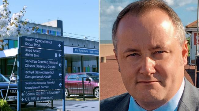 Glan Clwyd Hospital where the Ablett Unit is based and Darren Millar, MS for Clwyd West