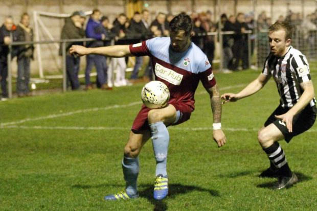 Mitch Bryant in action for Colwyn Bay last season