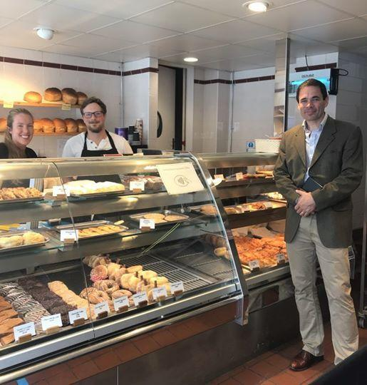 MP at Popty Conwy Bakery