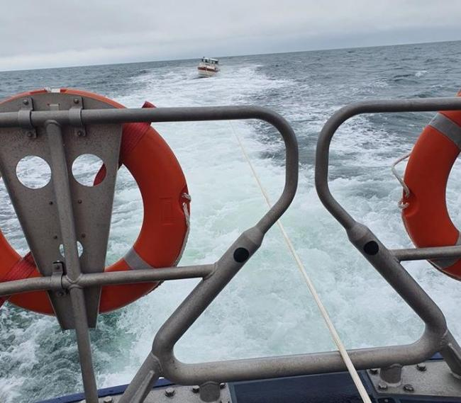 Three people were on-board the boat. Picture: RNLI Llandudno Lifeboat