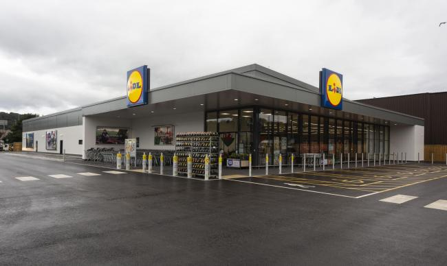 The New Lidl store on Vale Road, Llandudno Junction.