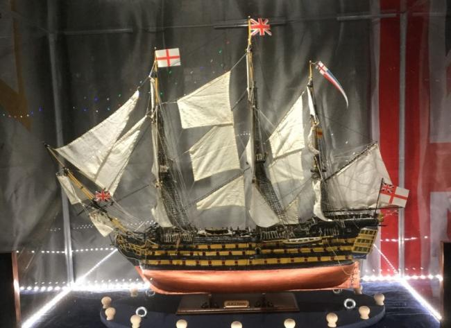 The Royal Naval Association in Llandudno were loaned a scale model of HMS Victory