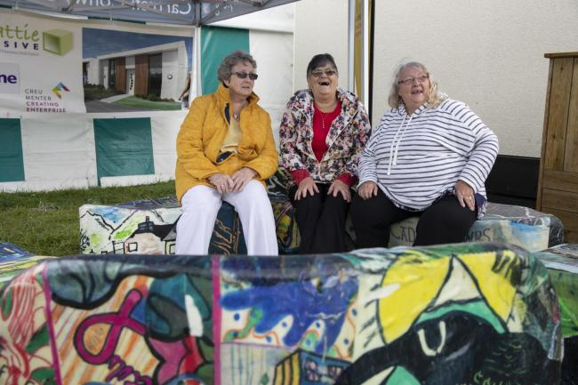 Residents Renee Owen, Megan Burnell and Annabella Orr.