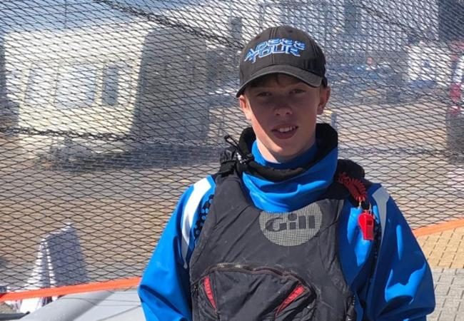 Freddie MacLaverty finished second at a prestigious national sailing event