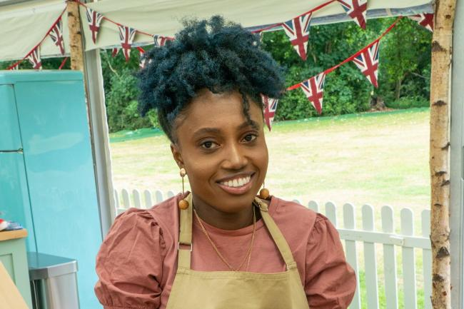 Loriea in the first episode of The Great British Bake Off