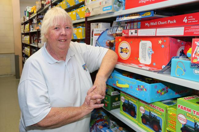 North Wales Superkids founder Margaret Williams MBE at the charity's depot 