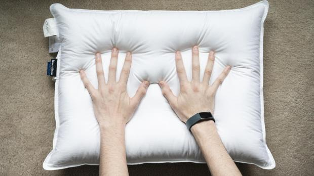 North Wales Pioneer: If your pillow doesn't spring back from pressure, the fill isn't as resilient as it should be. Credit: Reviewed / Betsey Goldwasser