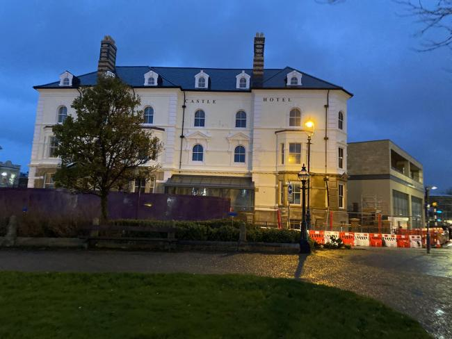 Work continues on the site of the former Tudno Castle in Llandudno