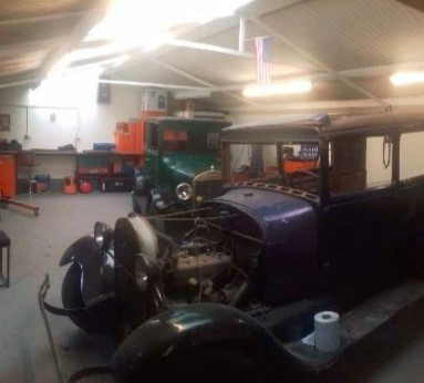 One of the vintage Ford cars being restored at the shed Picture: In planning documents (clear for use by all partners)