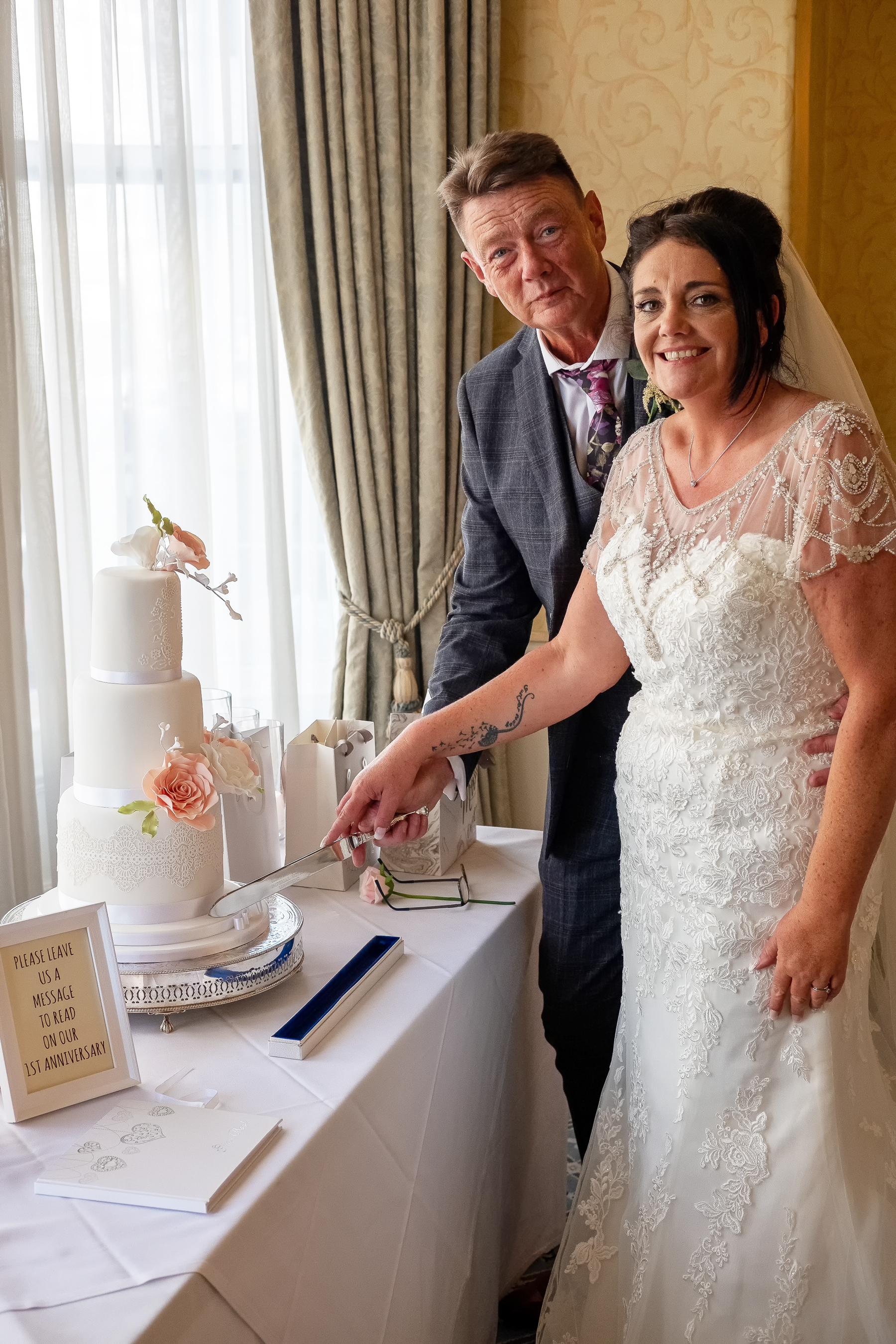 Cutting the cake! Picture: Phil Rogers